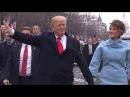 Watch the Trumps walk during inaugural parade