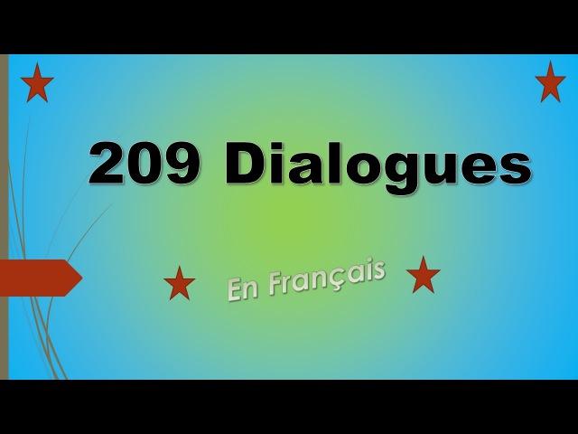 Parler français facilement 209 dialogues en français