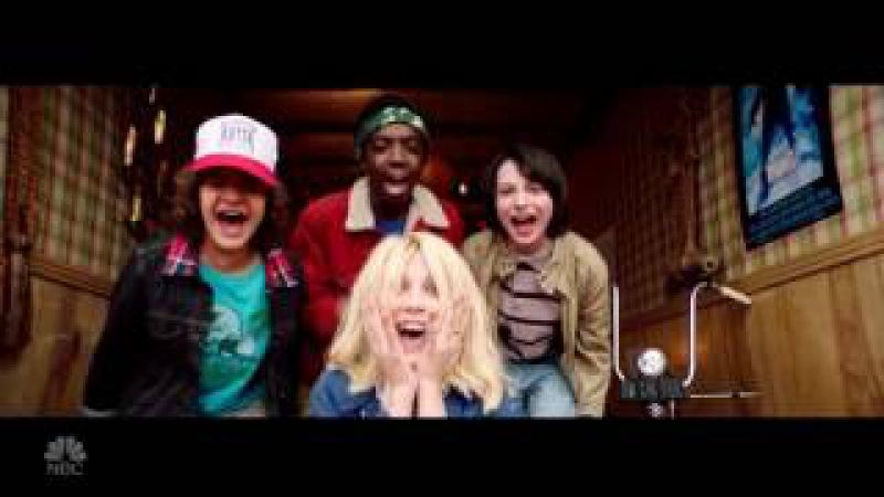 Jimmy Fallon Open Theme For Golden Globes 2017 Stranger Things Cast | BARB IS STILL ALIVE