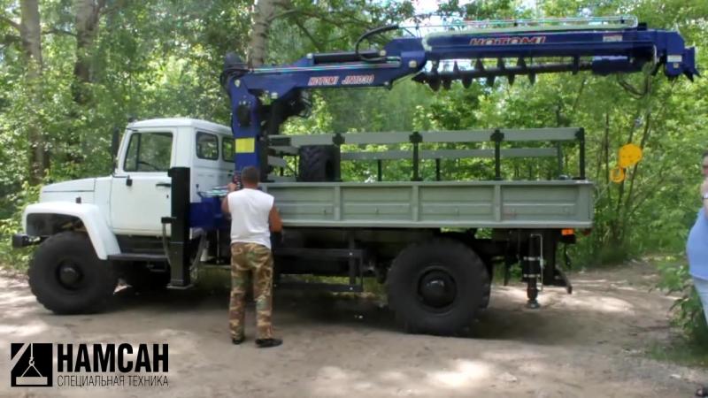 ГАЗ 33081 с Бурильно-крановой установкой HOTOMI JN 1030