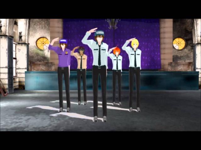 MMD Party Rock Anthem (FNAF nightguards)