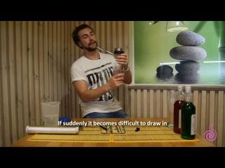how to prepare MINI HOOKAH in the glass HURRICANE GLASS instruction