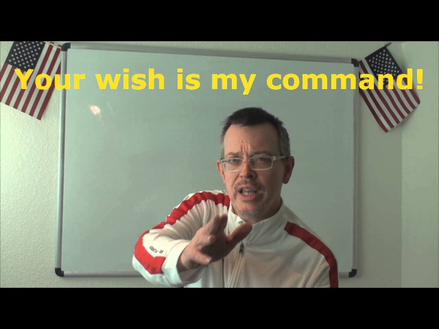 Learn English Daily Easy English Expression 0666 Your wish is my command^^