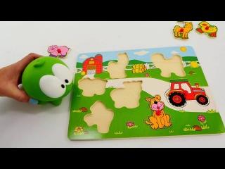 Spielspaß mit Om-Nom - Wir machen ein Puzzle - Tiere auf dem Bauernhof