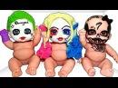 Куклы Пупсики Играют Делаем Аквагрим Хэллоуин Лепим Маски из пластилина Плей До Игры для девочек