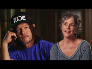 Norman Reedus & Melissa McBride talking about filming together #Caryl #McReedus