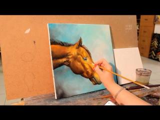 Как рисовать лошадь. Живопись маслом
