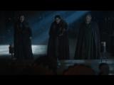 Игра Престолов - 4. Джон Сноу и Санса Старк на Медвежьем острове с целью принятия помощи от дома Мормонтов для войны с Болтонами