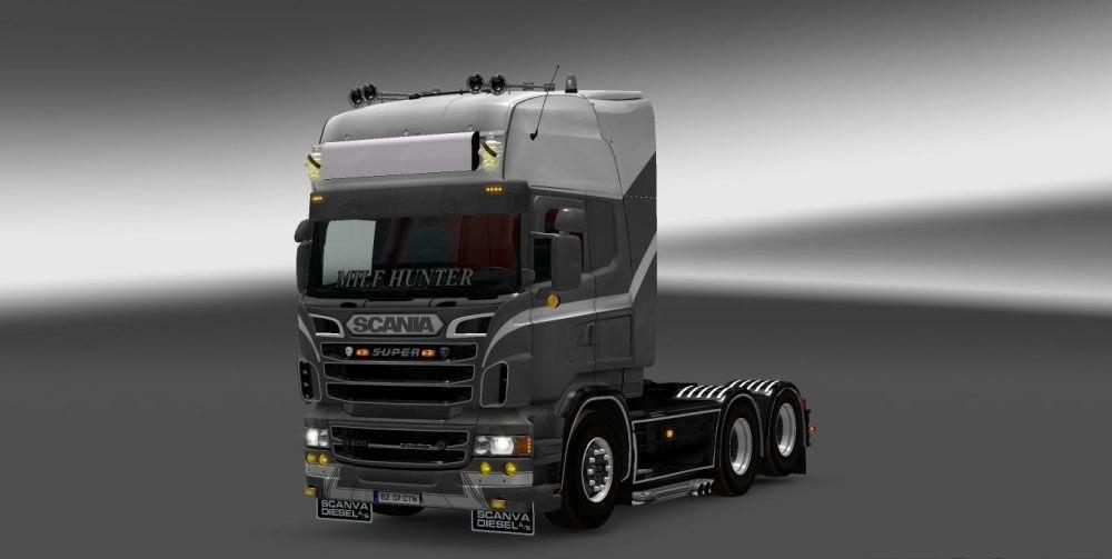 Скин Grey Legend для Scania RJL