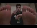Teen boy bare soles