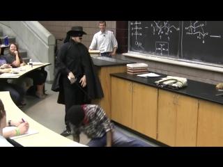 Zorro Kills Thief in Lecture Prank (with Mariachi Band), University of Michigan