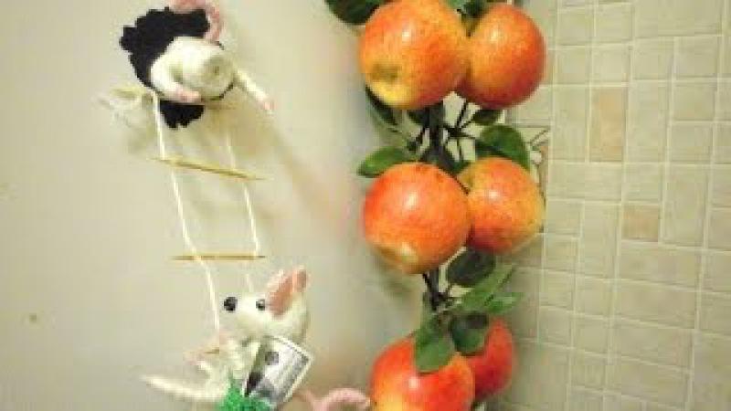 магнит на холодильник Мышки-воришки подробный мк