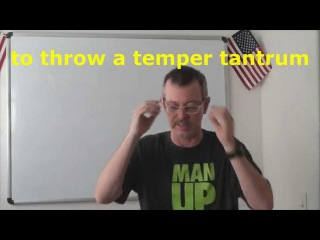 0677 - to throw a temper tantrum / устраивать истерику - Daily Easy English Expression