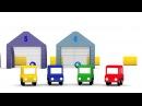 Apprendre à compter Dessin animé de 4 voitures colorées pour enfants
