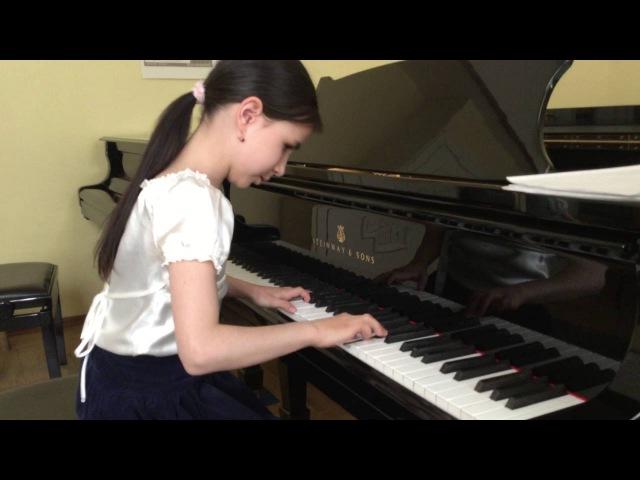 Alexandra Dovgan (8 y.o.), Carl Czerny, Еtude №15, op.299