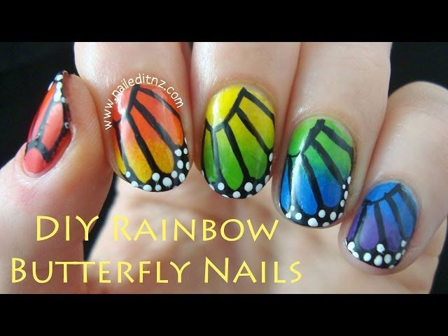 Rainbow Butterfly Nail Art | Collab with Eyedolize Makeup