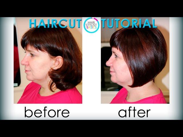 Haircut female Bob (Женская стрижка Боб) tutorial 27
