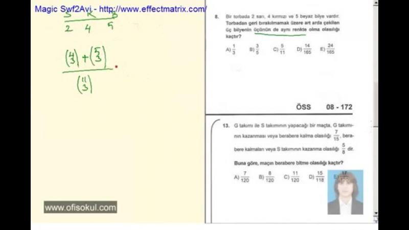 73-Olasılık 1 - Matematik Soru Çözme Seti - KPSS - YGS - LYS