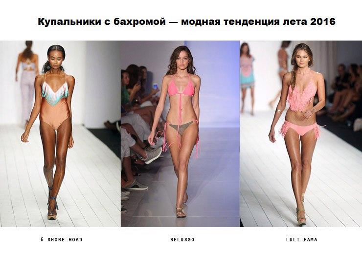 мода пляжная для женщин