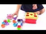 Развивающий мультфильм. Робокар Поли и Эмбер играют в сортер, учат цвета и геометрические фигуры