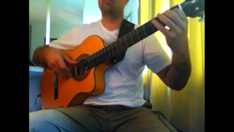 """Iron Maiden """"Aces High"""" (acoustic) Ben Woods on Flamenco Guitar"""
