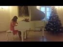 Новогодний вечер в Приоратском дворце. Играем Лунная соната Бетховена, 1 часть. Класс фортепиано и ОКФ - педагог Грибанова Е.В