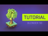 [Tutorial] How to create a 3d Cartoon Stylised Tree in Blender 3d | Cartoon Smooth Game Model