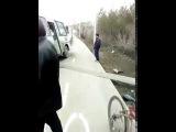 Авария на спуске в Сипайлово. Уфа. 25.04.2017