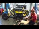 Замена шаровых крестовин и рулевых тяг на квадроциклах BRP Запчасти от All Balls Racing