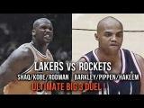 Shaq/Kobe/Rodman vs Pippen/Barkley/Olajuwon - Ultimate Big 3 Battle ! (Feburary 28, 1999)