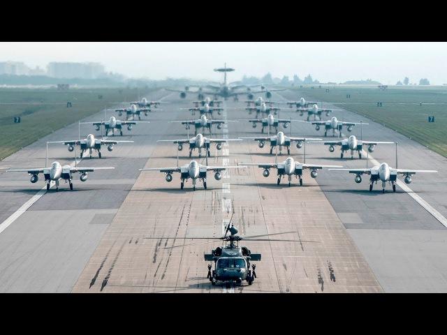 MASSIVE US Air Force Aircraft Elephant Walk At Kadena Air Base Japan
