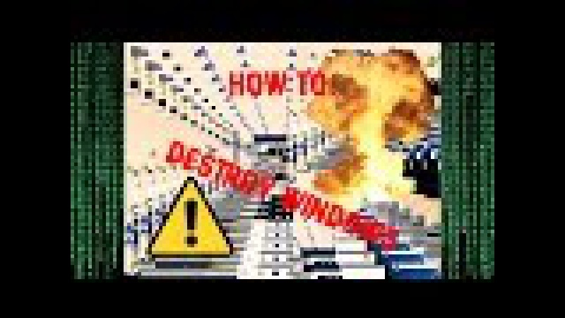 How To Destroy Windows XP/2000/7/8/10 | Best Virus Ever