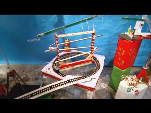 Mythbusters Christmas Special Rube Goldberg Machine BEST QUALITY
