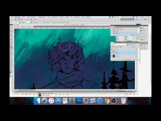 Nothern Lights (Ville Valo) digital painting timelapse