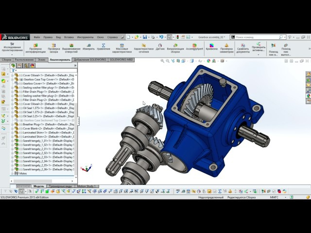 Solidworks. Редуктор. Solidworks Gearbox