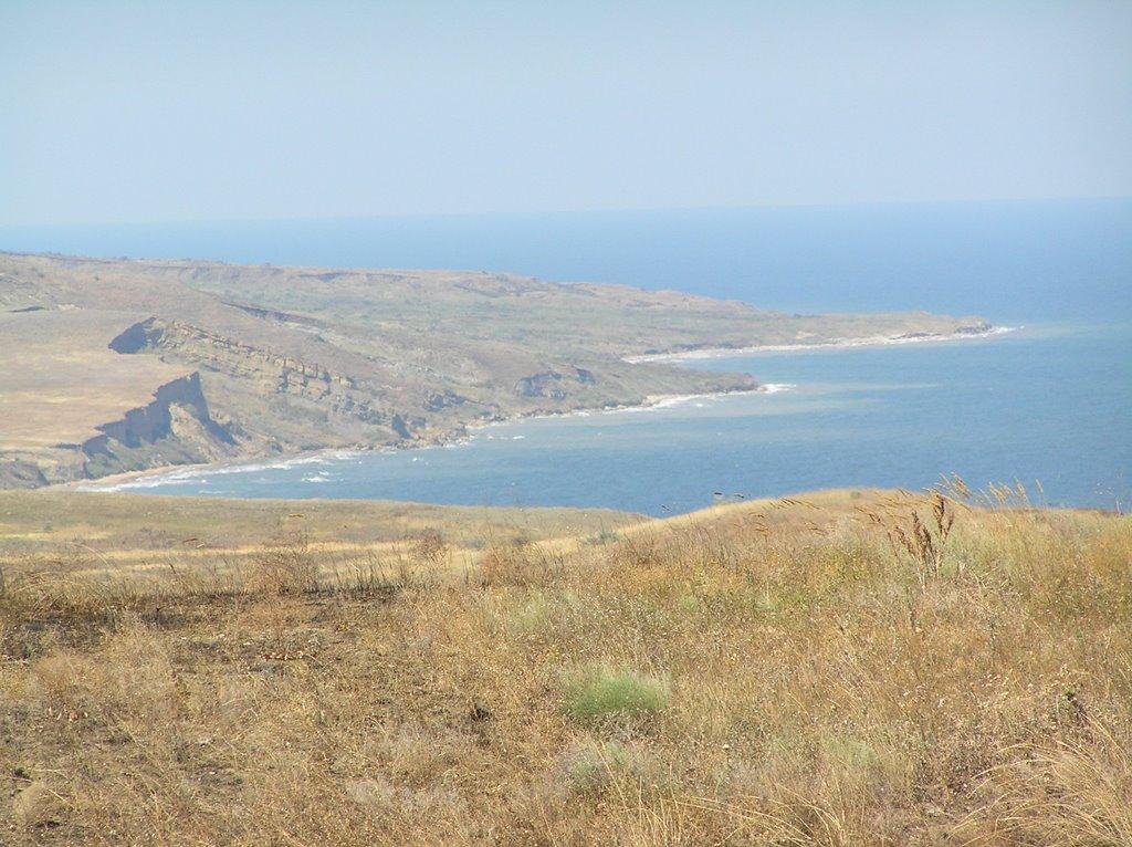 Вид на зону высадки у мыса Тархан