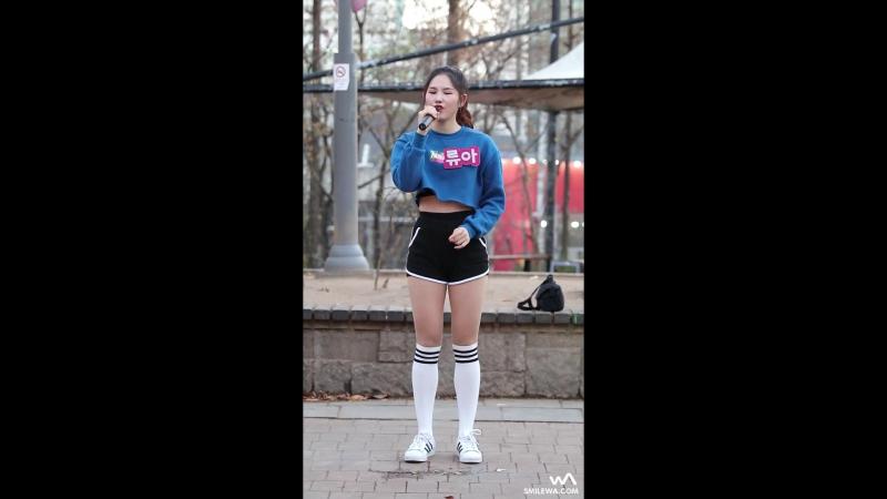 [fancam] Ryua - See Through (Kwon Jin Ah) @ Hongdae Busking 161201 -wA-