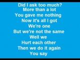 U2 - One with lyrics