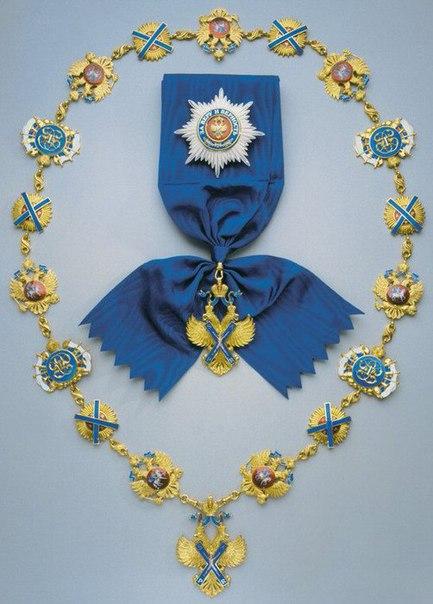 Указом царя Петра I учрежден Орден Святого апостола Андрея Первозванного