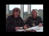 Ian Hunter and Mick Ronson - Interview NRK Norway (1990)