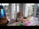 21-05-2016 Настя помогает бабушке Гале делать пирожки на даче