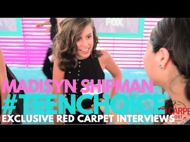 Madisyn Shipman GameShakers interviewed at the 2016 Teen Choice Awards Teal Carpet TeenChoice