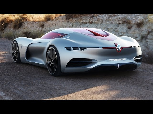 Renault TREZOR Concept - interior Exterior and Drive