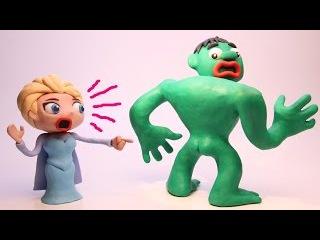 NAKED HULK and SUPERMAN Superhero Pranks! Frozen Elsa in Real Life Animation Movies
