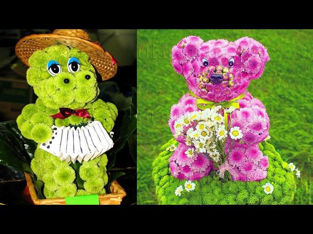 Поделки из цветов.Crafts from flowers.