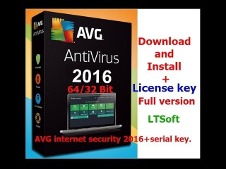 AVG internet security 2016 with serial-license key Download full version(Latest)