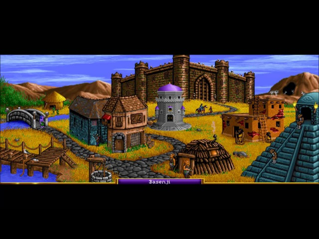 Heroes of Might Magic 1 Barbarian Town Theme Animatic (1995, NWC) 720p Animated