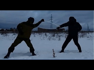 Тренировка по фехтованию