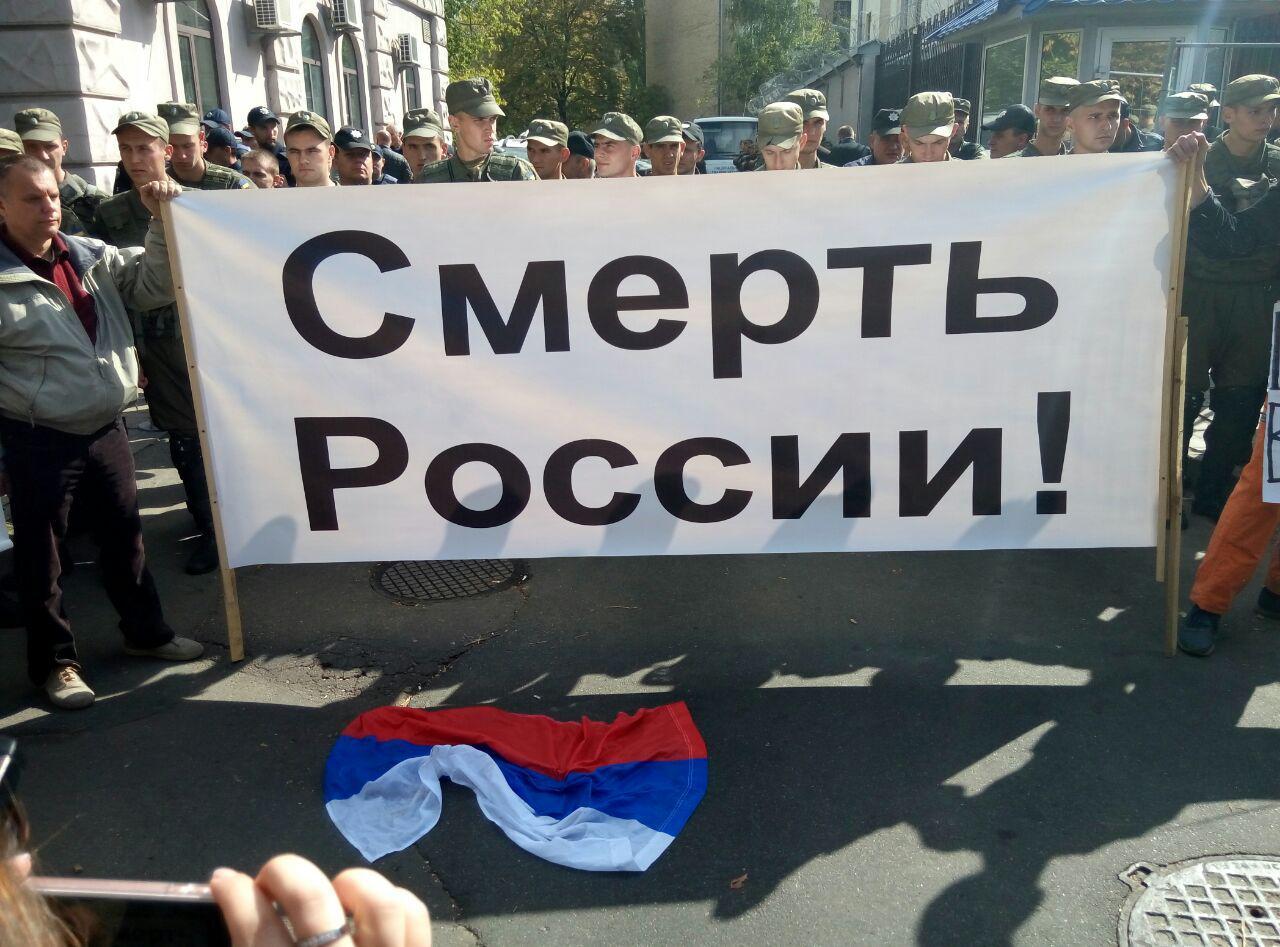 Протестующий, избивавший человека под посольством РФ в Киеве, задержан, - Крищенко - Цензор.НЕТ 9949