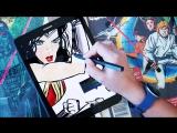 Рисую Wonder Woman на Samsung Galaxy Tab S3